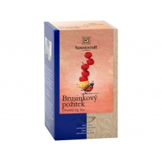 Bio Brusinkový požitek čaj porc. dvoukomorový 50,4g (18sáčků)