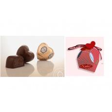 Čokoládové srdce v krabičce Z lásky 40g
