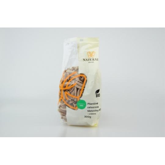 Těstoviny pšeničné celozrnné - vřetena BIO 300 g