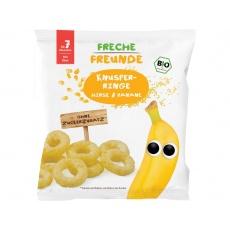 Bio Křupavé kroužky Proso a banán 20g