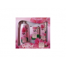 Dárkový set - tělové mléko, mýdlo, krém na ruce z růží 480g