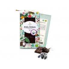 Bio čokoláda s levandulí - hořká 80g