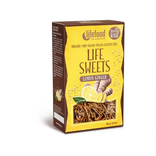 Bio Life sweets Zázvorové s citronovou kůrou 80g