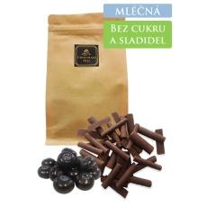 59% MLÉČNÁ čokoláda slazená borůvkami (bez cukru a sladidel) 100g