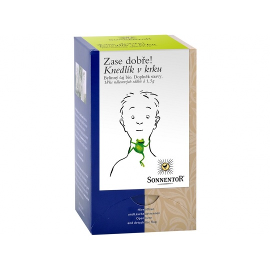 Bio Knedlík v krku - bylinný porc.čaj dvoukomorový 27g