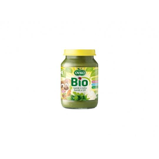 Bio Dětská výživa špenát s rýži OVKO 190g