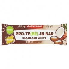 Proteinová tyčinka PRO-TE(BE)-IN BAR Black and White 35g min.trv. 12.08.2021