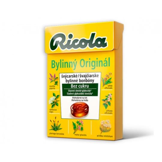 Low Carb Ricola BYLINNÝ ORIGINÁL 40 g bez cukru EXP.06/2020
