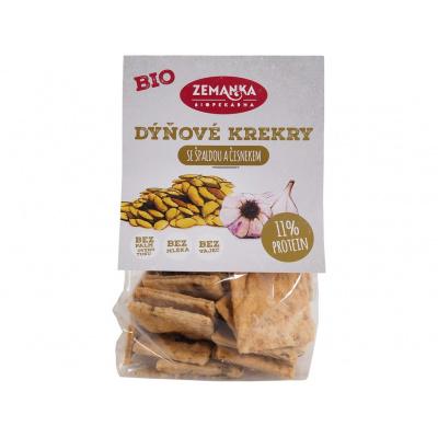 Bio Špaldové krekry s dýňovým semínkem a česnekem 100g