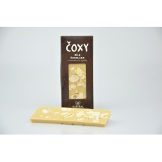 Čokoláda bílá s mandl.lupínky a xylitolem - ČOXY 50 g