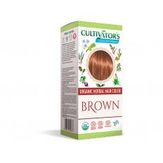Bio přírodní barva na vlasy 100% 7 - Hnědá 100g