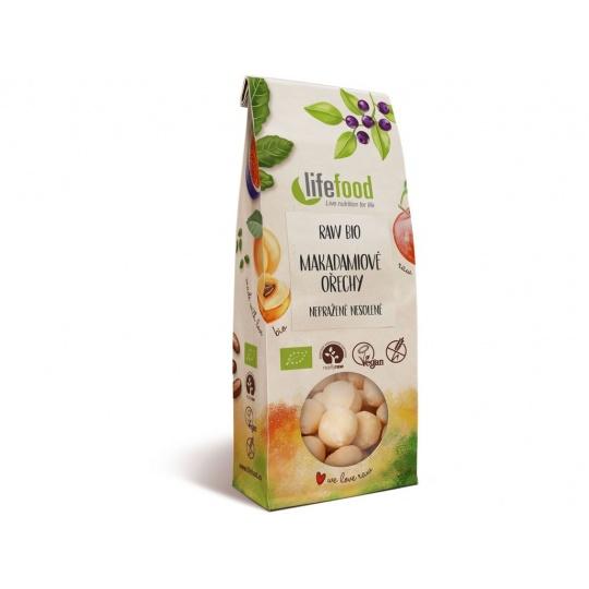 Bio Makadamiové ořechy nepražené 100g