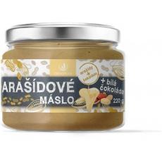 Arašídové máslo s bílou čokoládou 220g