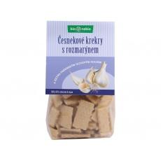 Bio Česnekové krekry s rozmarýnem 130 g