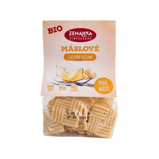 Bio Máslové sušenky s ovesnými vločkami 100 g