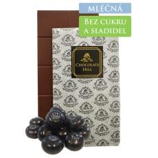 59% MLÉČNÁ čokoláda bez přidaných cukrů a sladidel (slazená borůvkami) 60 g