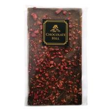 70% Tmavá čokoláda s malinami a skořicí 62 g
