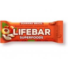 Bio tyčinka Lifebar Superfoods Guarana a Brazil 47g